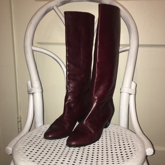 Price Drop E Leather Boots Oxblood 385